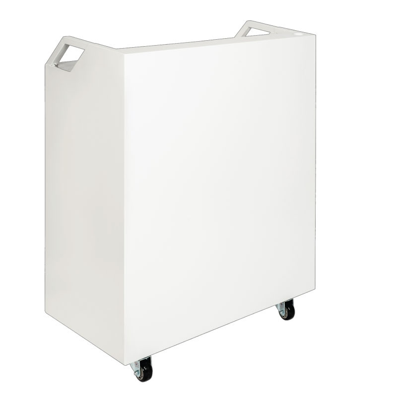 White Valet Podium 200 Key Slot Front