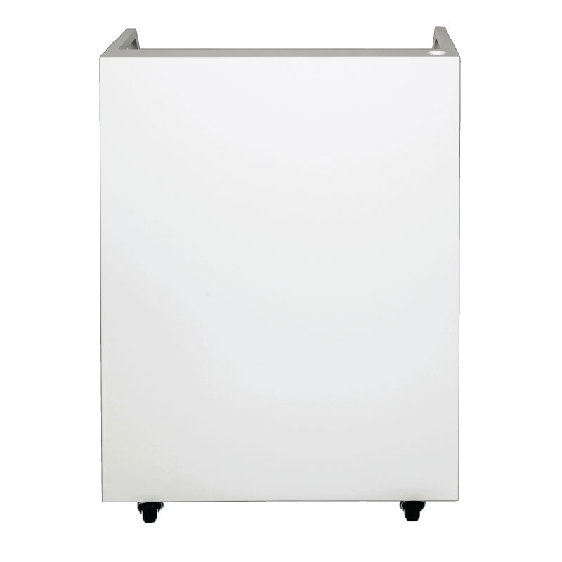 White Valet Podium 200 Key Slot Front Flat