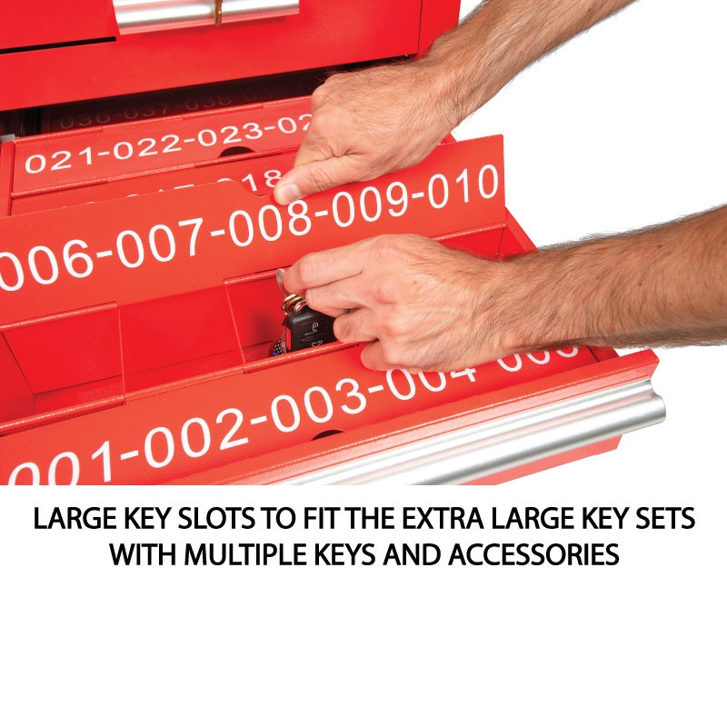 Red Valet Podium Drawer Key Model Close Up