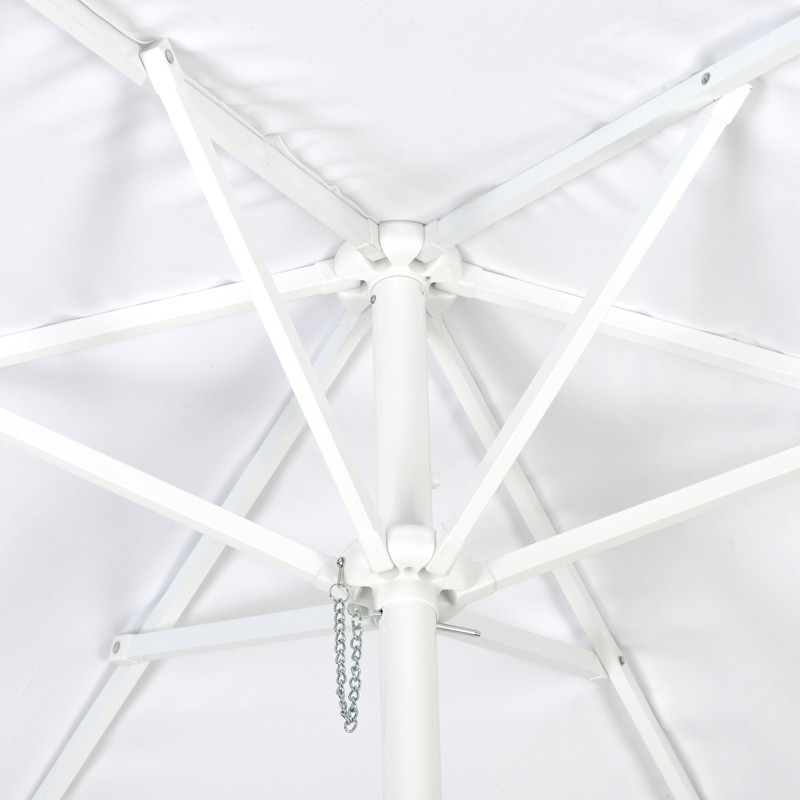 White Valet Parking Umbrella Top