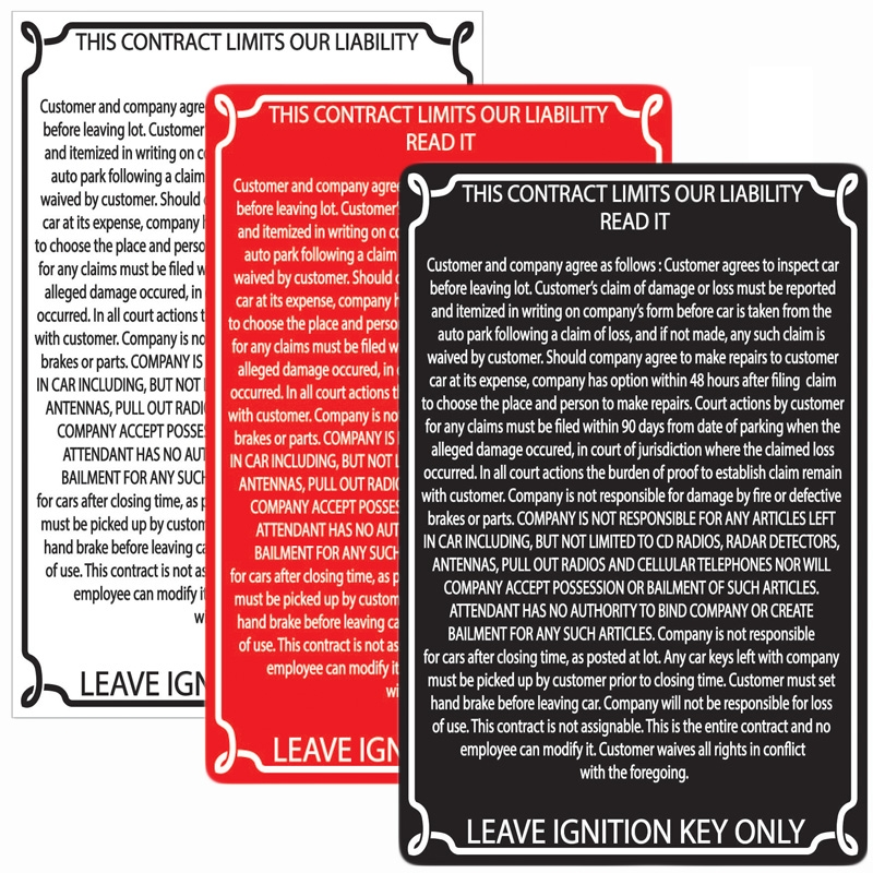 Liability Signs