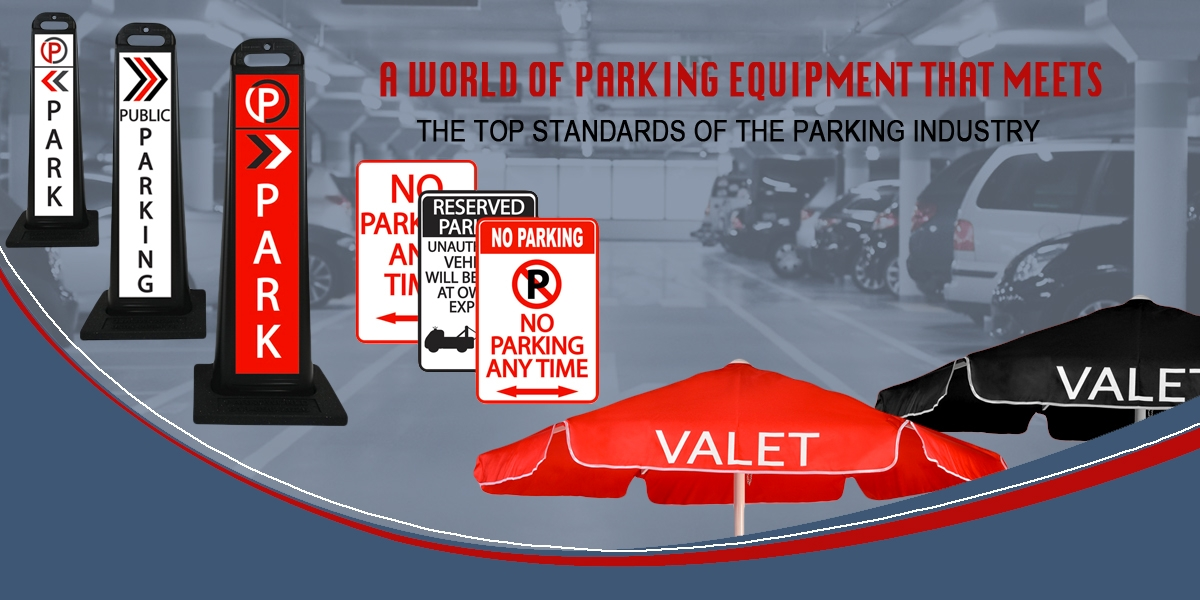 Wide selection of parking equipment