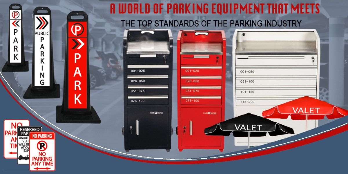 Wide selection of valet parking equipment